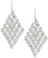 Cezanne Rhinestone Mesh Kite Statement Earrings