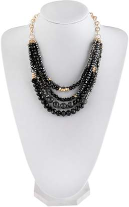 Riah Fashion Mixed-Beads Statement Necklace