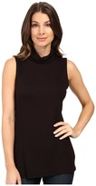B Collection by Bobeau Sloan Ribbed Sleeveless Turtleneck Tee