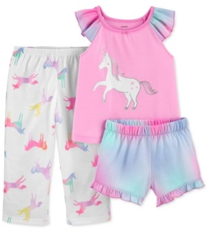 Carter's Toddler Girls 3-Pc. Unicorn Pajamas Set