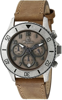 Burgmeister Men's Quartz Watch with Brown Dial Analogue Display and Beige Leather Bracelet BM532-910
