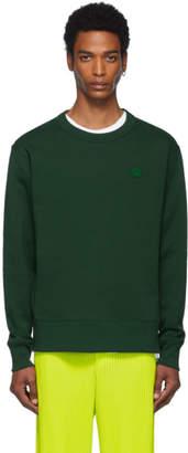 Acne Studios Green Fairview Face Sweatshirt