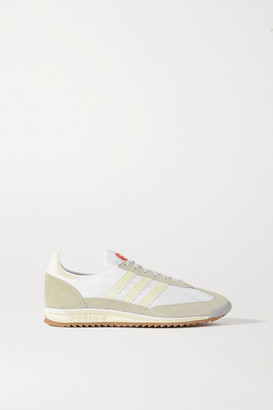 adidas + Lotta Volkova Sl 72 Shell, Leather And Suede Sneakers - White
