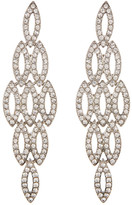 Natasha Accessories Crystal Embellished Link Earrings