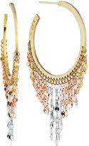 Lana Small 14k Three-Tone Fringe Hoop Earrings
