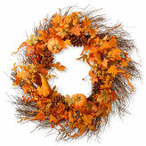 NATIONAL TREE CO National Tree Co 28 Inch Pumpkin Wreath
