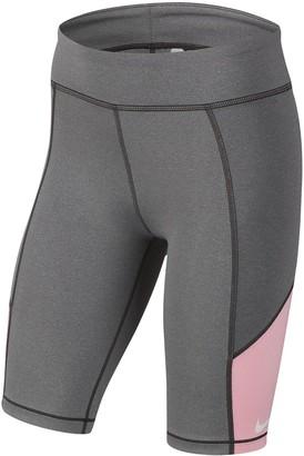 Nike Older Girls Trophy Cycling Running Shorts - Grey/Pink