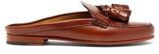 Hereu Borlada Tasselled Backless Leather Loafers - Womens - Tan
