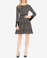 Vince Camuto Cotton Printed Jacquard Fit & Flare Dress