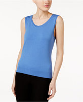 August Silk Scoop-Neck Shell