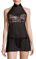 Hanky Panky After Midnight Love Tied Open-Back Babydoll