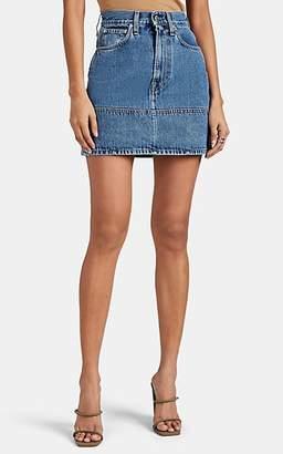 Helmut Lang Women's Femme Denim High-Rise Miniskirt - Blue