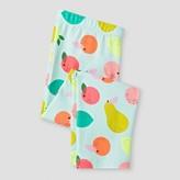 Cat & Jack Girls' Mint Fruit Print Capri Legging Pant Cat & Jack - Aqua Float