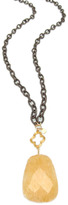Jessica Elliot Long Threaded Chain Necklace with Clover