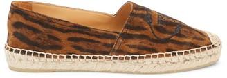 Prada Leopard-Print Leather Espadrille Loafers