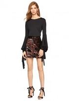 Milly Sequined Velvet Modern Mini Skirt