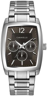 Caravelle by Bulova Men's 43C118 Barrel Multifunction Stainless Bracelet Watch