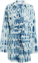 Nanushka Keiko Tie-Dye Cotton Shirt Dress