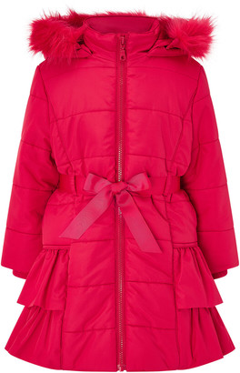 Under Armour Red Frill Padded Coat Red