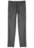 Pieter Grey Zipped Wool Flannel Trousers