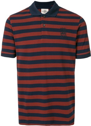 Kent & Curwen Striped Logo Embroidered Polo Shirt