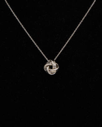 Italian Silver Love Knot Pendant