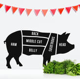 STUDY Oakdene Designs Butcher's Pig Wall Sticker