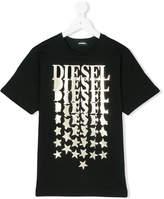 Diesel star logo printed T-shirt