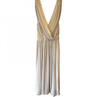 Anne Valerie Hash Beige Glitter Dresses
