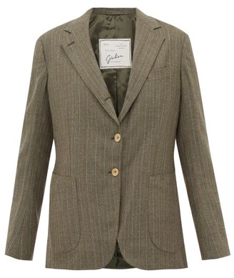 Giuliva Heritage Collection The Andrea Pinstriped Single-breasted Wool Blazer - Grey Multi