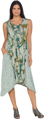 Logo by Lori Goldstein Printed Knit Dress with Pockets