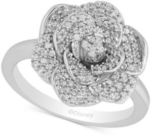 Enchanted Disney Fine Jewelry Enchanted Disney Diamond Flower Cinderella Ring (1/2 ct. t.w.) in 14k White Gold