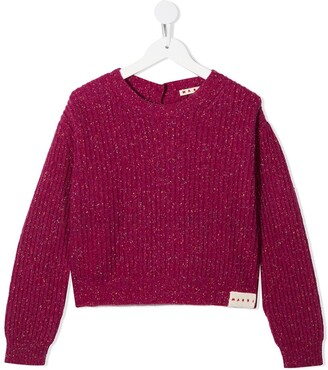 Marni Ribbed Long-Sleeve Jumper