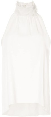 Fabiana Filippi Feather Neck Blouse