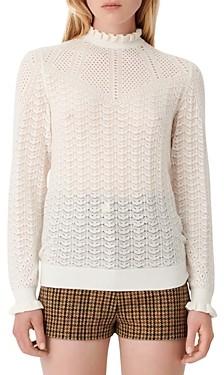 Maje Motifa Ruffled Sweater