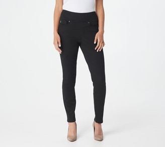 Belle by Kim Gravel TripleLuxe Twill Back Zip Jeggings