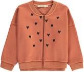 Bobo Choses Heart Loose Zip-Up Sweatshirt