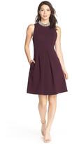 Eliza J Embellished Crepe Fit & Flare Dress