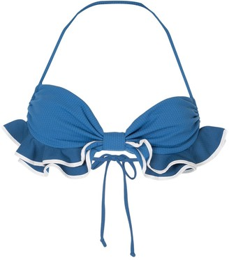 Marysia Swim Zuma ruffle-trimmed waffleweave bikini top
