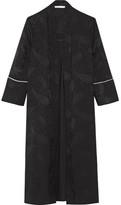 Maje Pleated Jacquard Kimono - Black