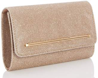 Quiz Gold Glitter Rectangle Bag