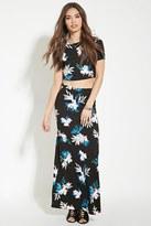Forever 21 Floral Print Maxi Skirt