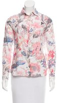 Paul & Joe Floral Print Button-Up Top