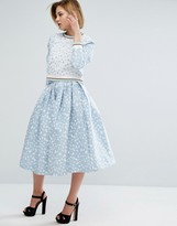House of Holland Heart Jacquard Skirt