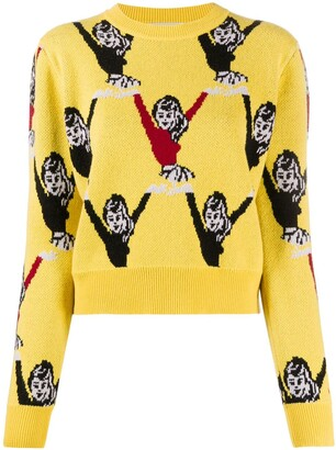 Victoria Victoria Beckham Graphic Long-Sleeve Jumper