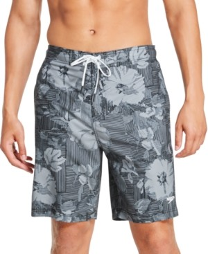 "Speedo Men's Bondi Ombre Gradient Floral 2-Way Stretch Upf 50+ 9"" Board Shorts"