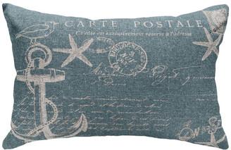 Nautical Anchor Linen Pillow