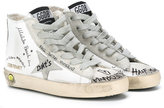Golden Goose Deluxe Brand Kids - scribbled Francy lace-up sneakers - kids - Cotton/Leather/Suede/rubber - 30