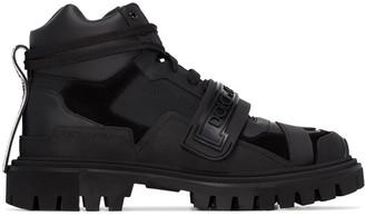 Dolce & Gabbana Panelled Logo Hiking Boots