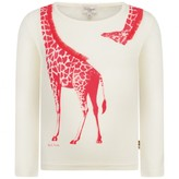 Paul Smith JuniorGirls White Giraffe Primavera Top